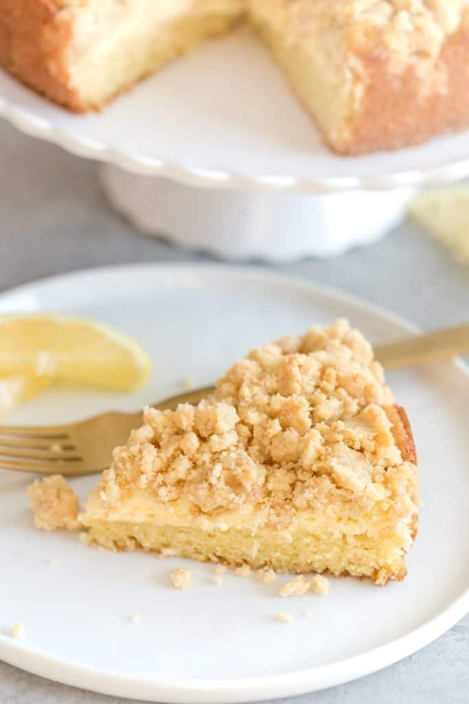 Lemon Coffee Cake with Cream Cheese Filling