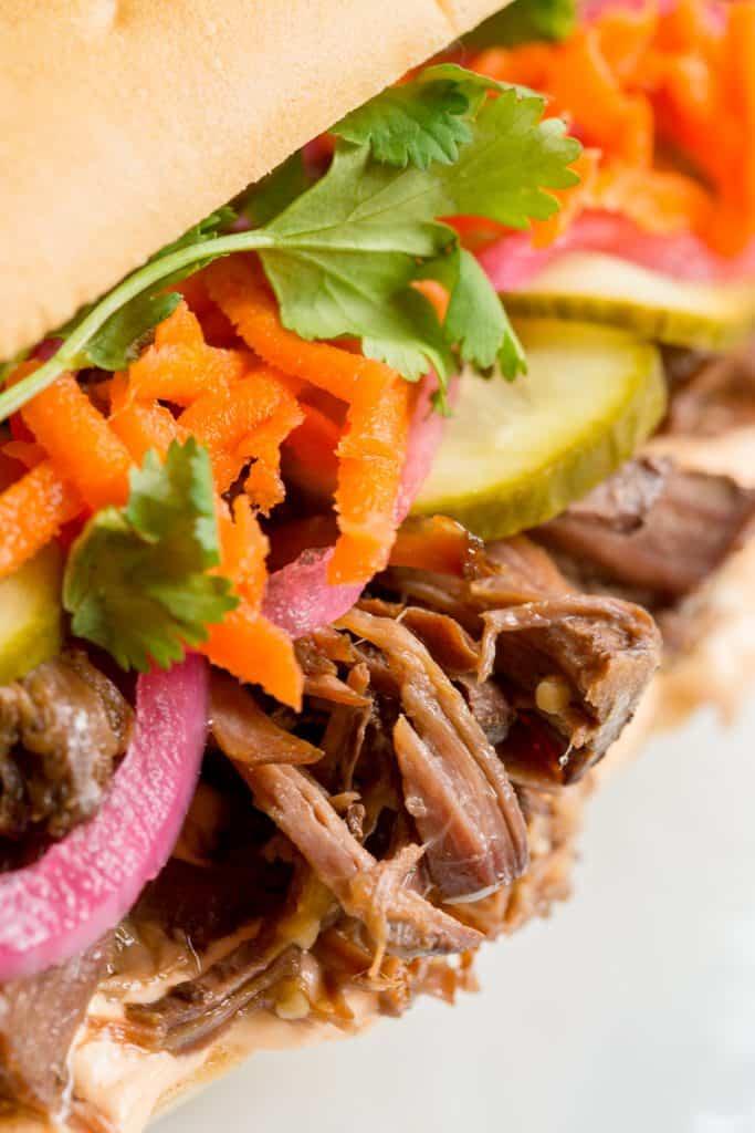 Beef Banh Mi Sandwiches
