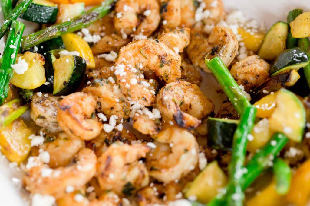 Grilled Mediterranean Shrimp - Summer Freeze Meals