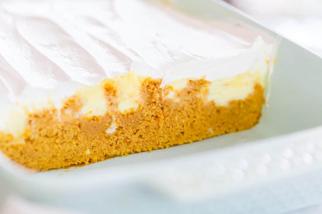 Pumpkin Pudding Poke Cake