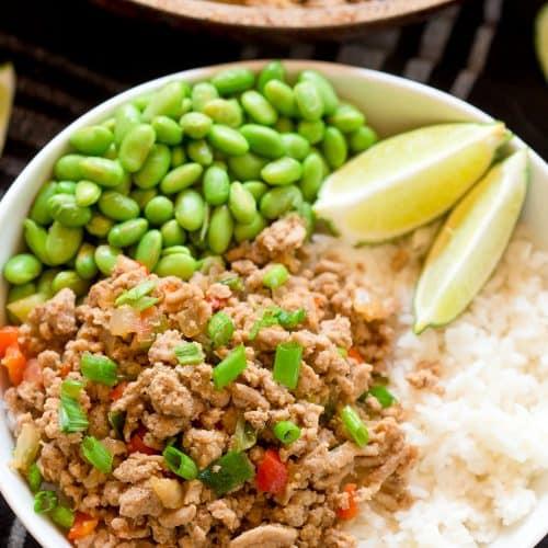 Asian Turkey Rice Bowls