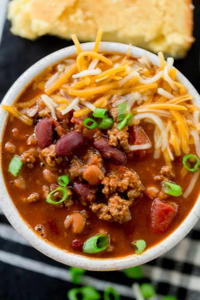 Slow Cooker Beef Chili (Freezer Meal!)